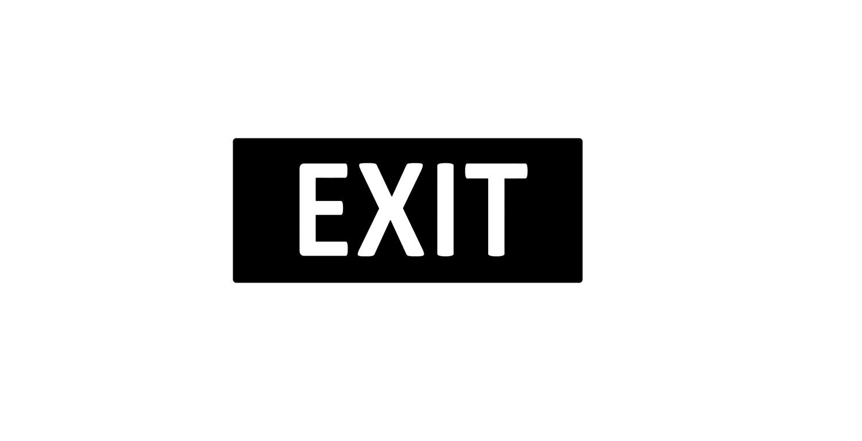 Türaufkleber Büro - EXIT V3.