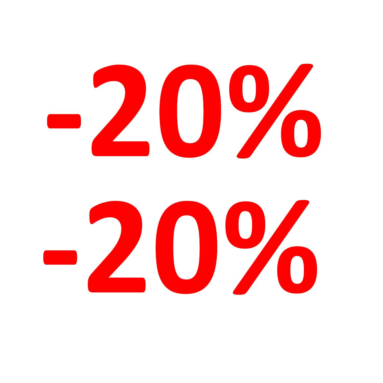 Aufkleber Einzelhandel - 20 %