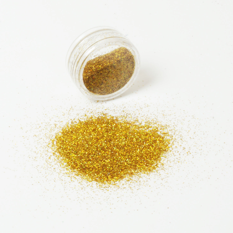 Glitzerpulver 6g Dose Farbe Gold Glitzer-Staub Glitter für Glitzer Tattoos