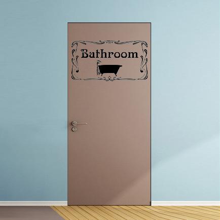 Aufkleber Türaufkleber WC Bad Bathroom Badezimmer Wanne Fun Sticker in Schwarz oder Wunschfarbe