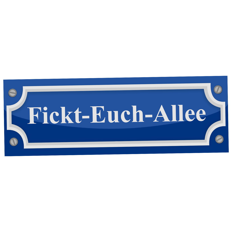 FICKT-EUCH-ALLEE Aufkleber Scherzartikel