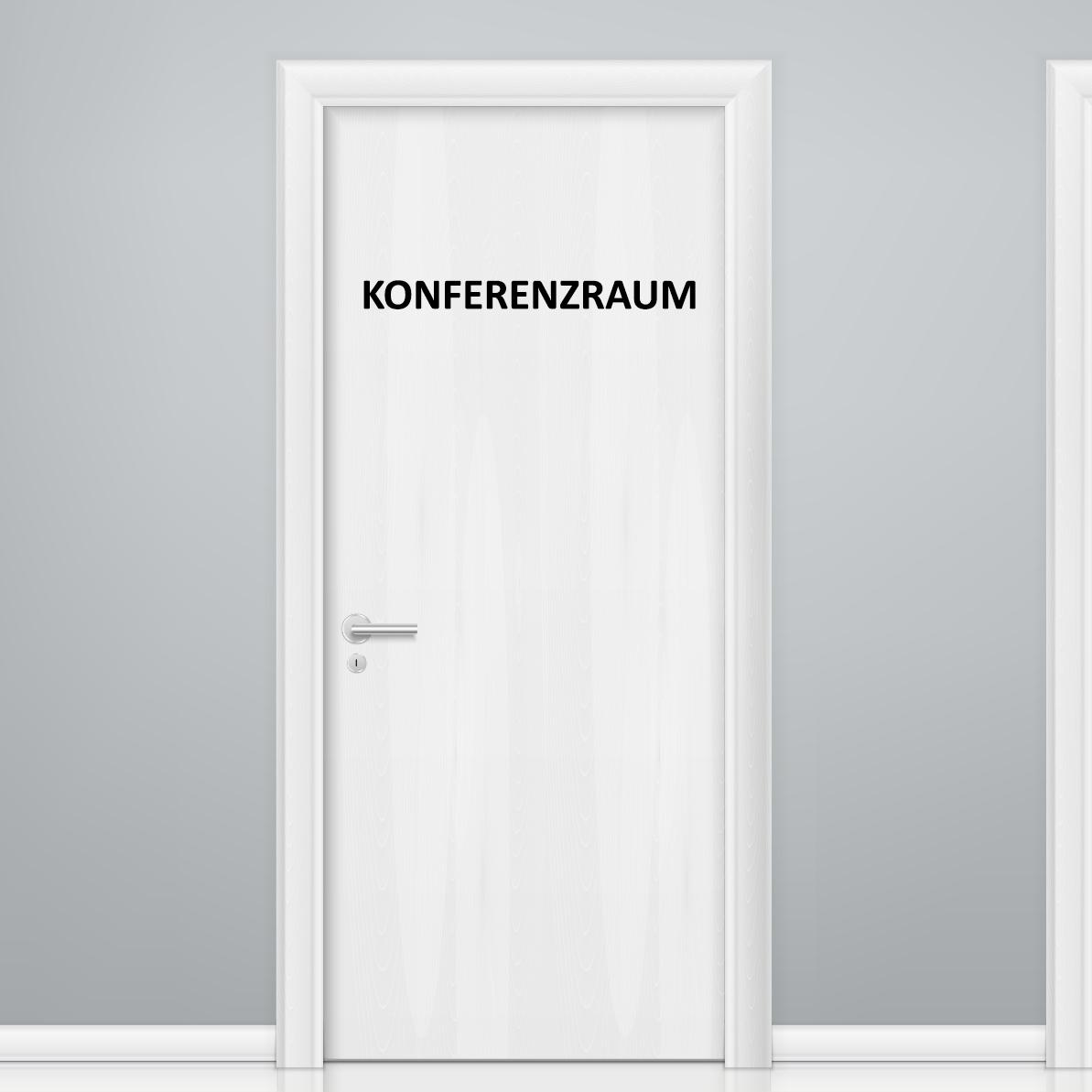Türaufkleber Büro - KONFERENZRAUM