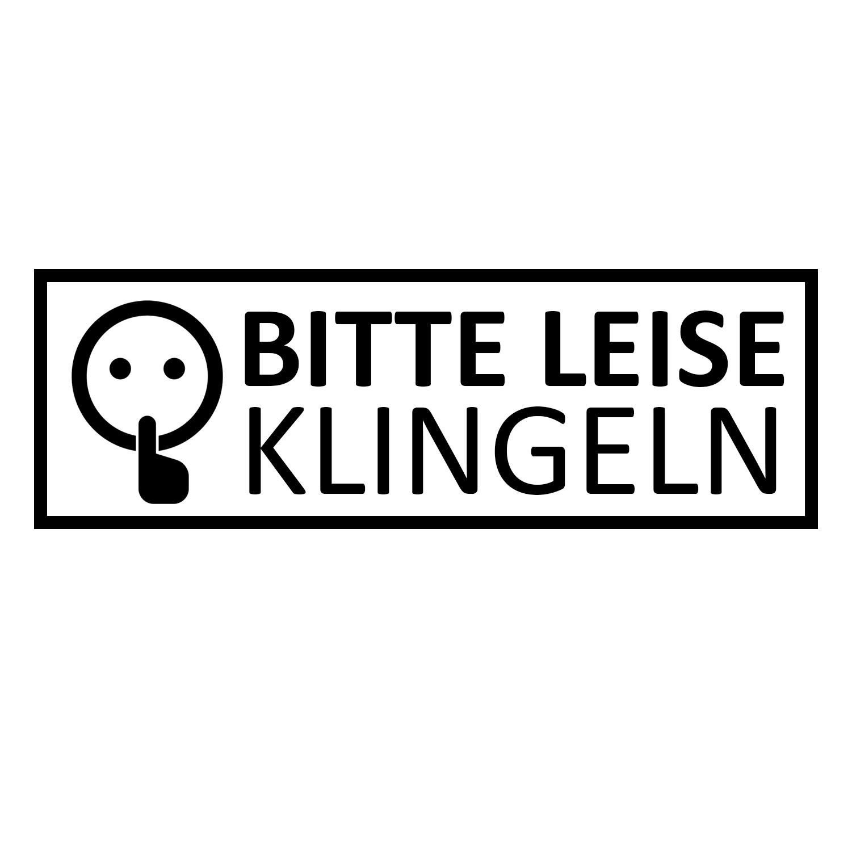 Aufkleber Türaufkleber Sticker BITTE LEISE KLINGELN Tür Fun Sticker Klingel
