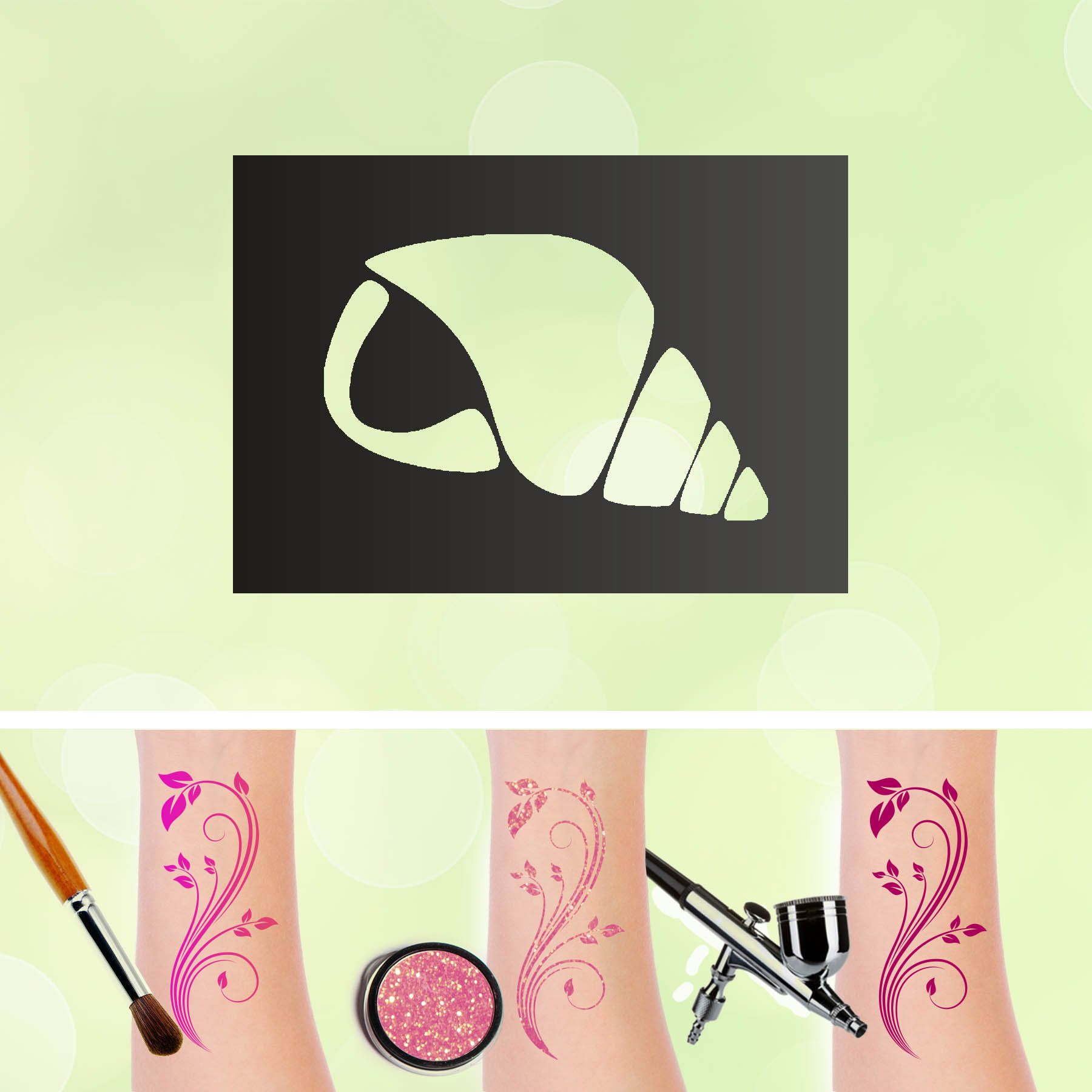 Tattoo Schablonen Muschel Selbstklebend Kinderschminken Airbrush