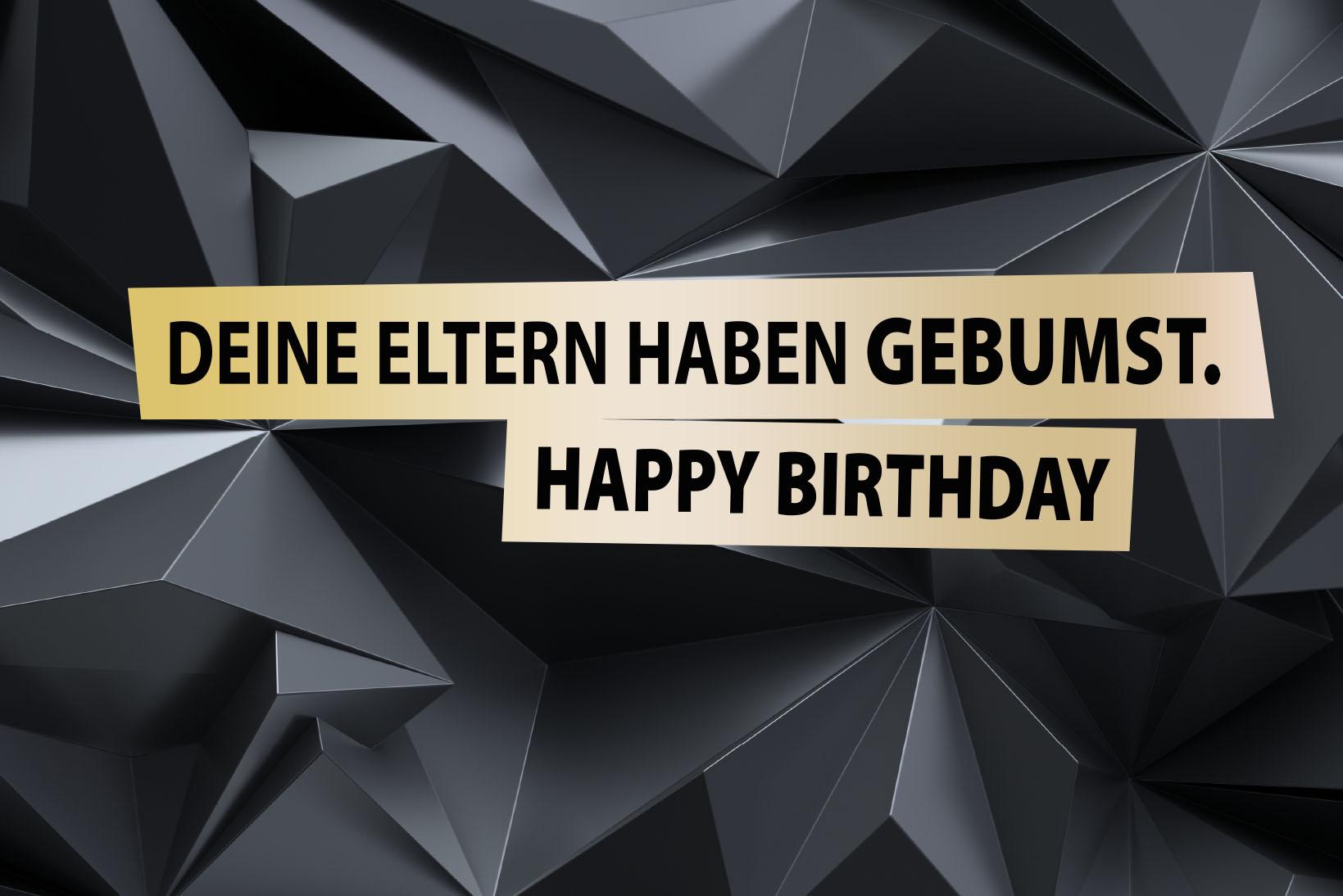 Geburtstagskarte - Deine Eltern haben gebumst. Happy Birthday Grußkarte Postkarte FUN