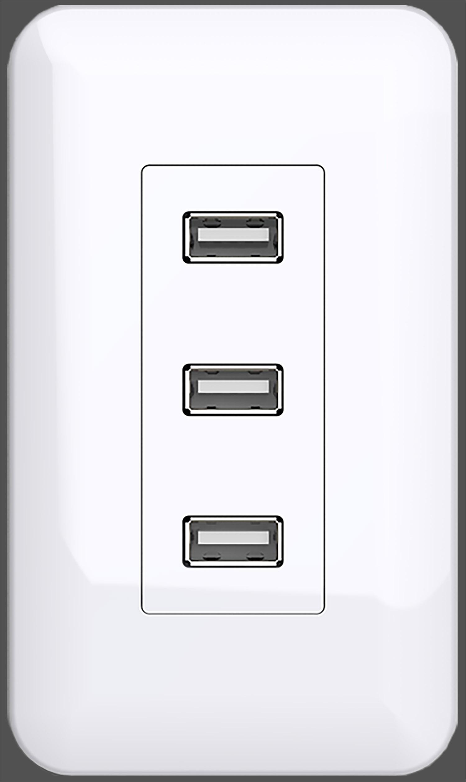 Aufkleber USB Dose Fake Steckdose täuschend echte Optik ca.6,3 x 10,7cm
