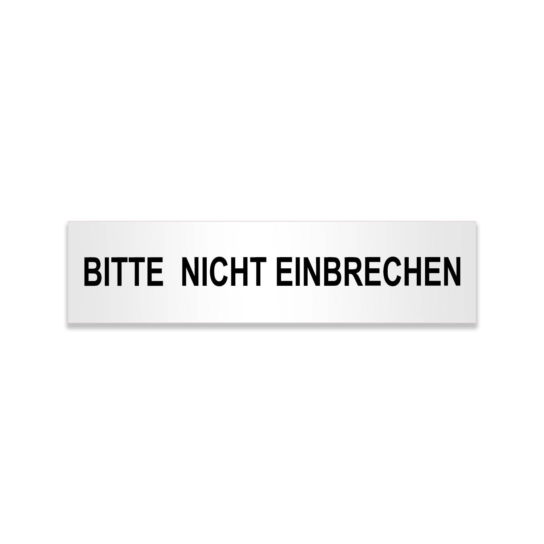 Aufkleber BITTE NICHT EINBRECHEN - FUN Sticker selbstklebend
