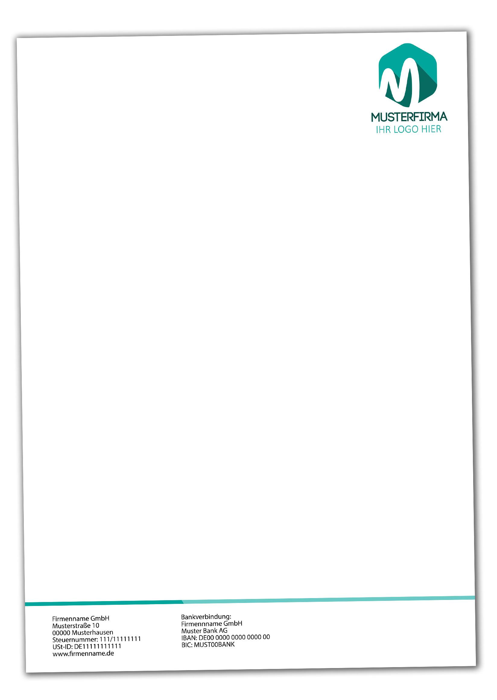 Briefpapier DIN-A4 Klassik Design+Ihr Inhalt individuell einseitig bedruckt 4/0 Offsetpapier 90g/m²