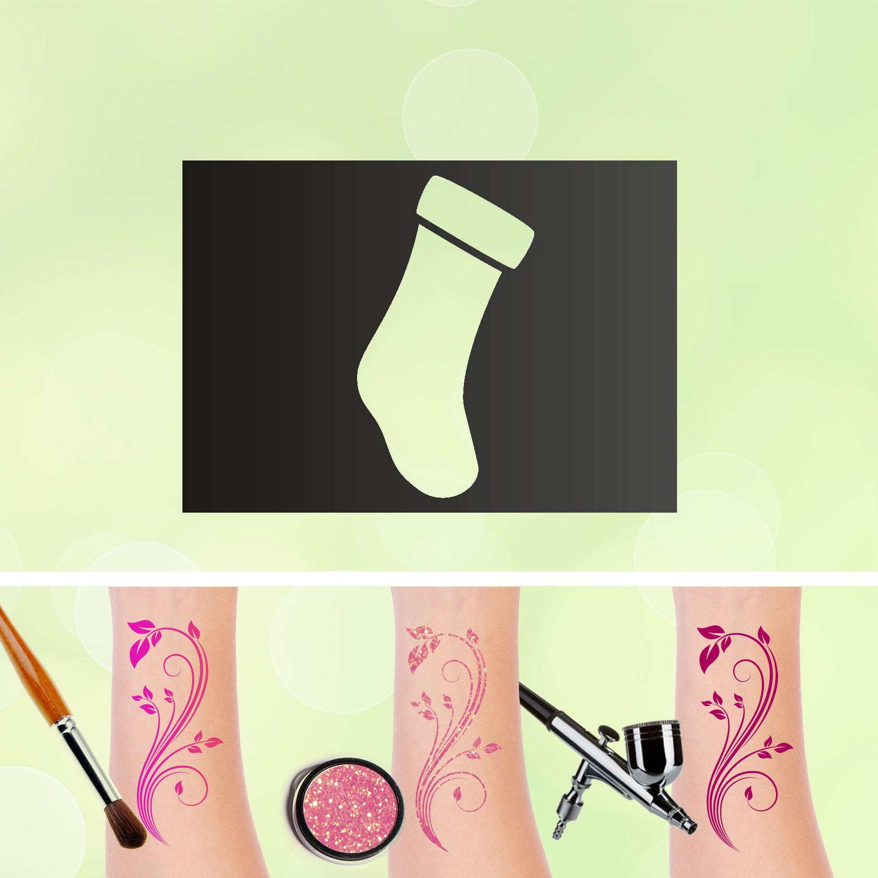 Tattoo Schablone Socke Selbstklebend Kinder Schminken Airbrush
