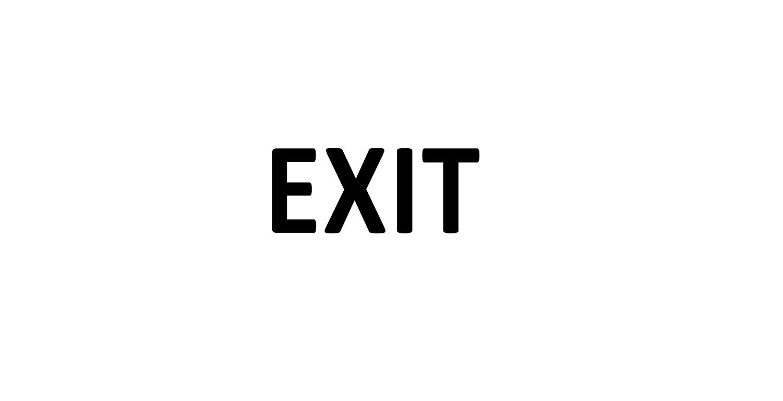 Türaufkleber Büro - EXIT