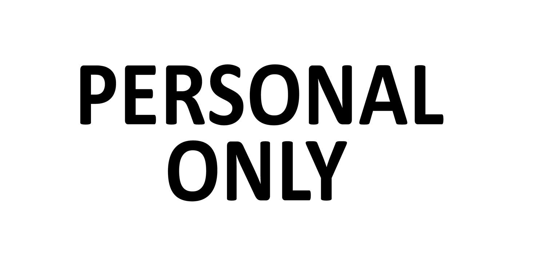 Türaufkleber Büro - PERSONAL ONLY