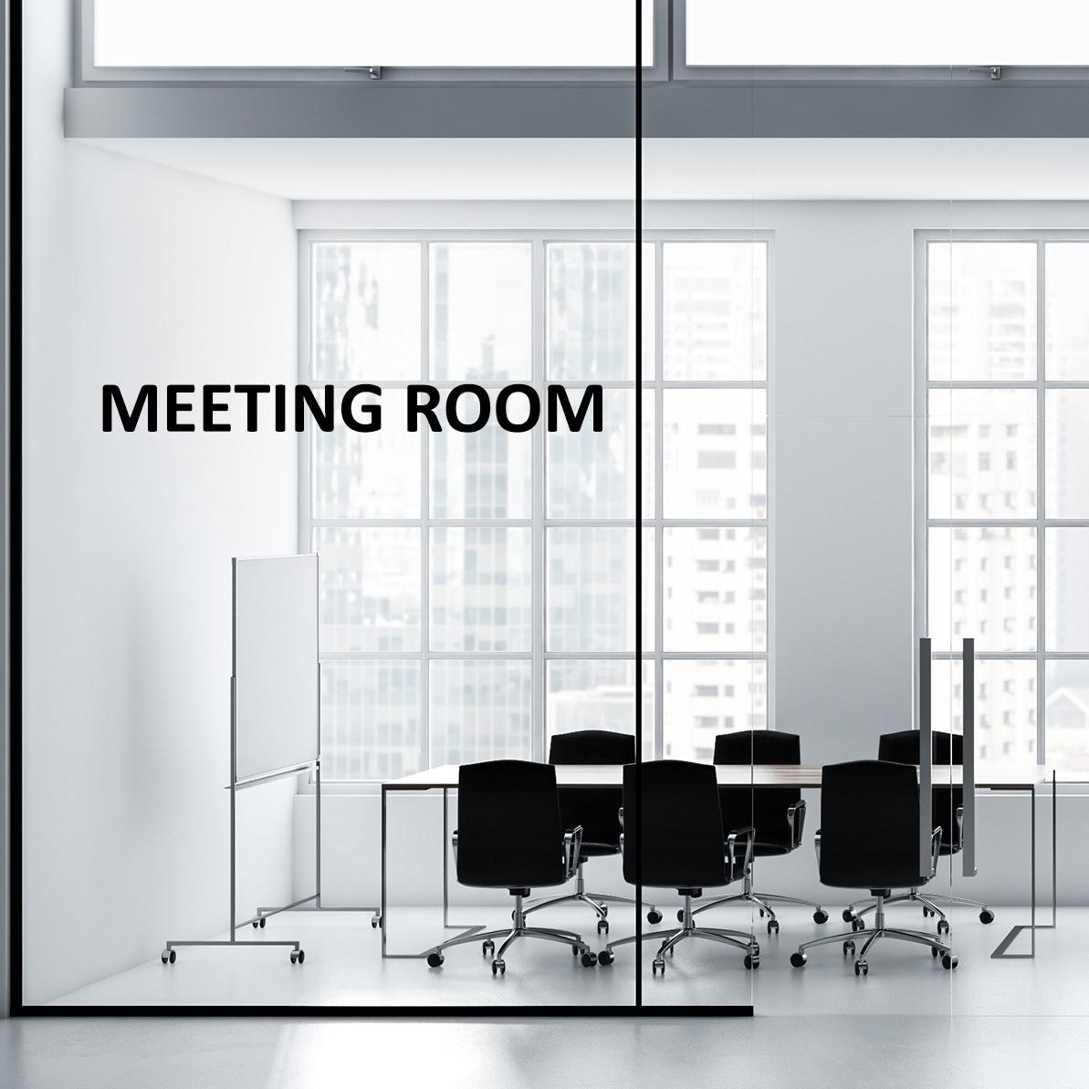 Aufkleber - MEETING ROOM Türaufkleber Hinweisschild Sticker