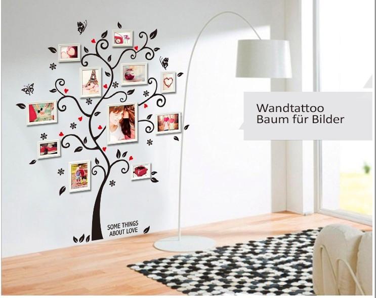 Wandtattoo Baum Bilderrahmen Wohnzimmer Kinderzimmer Wand Aufkleber Bilder