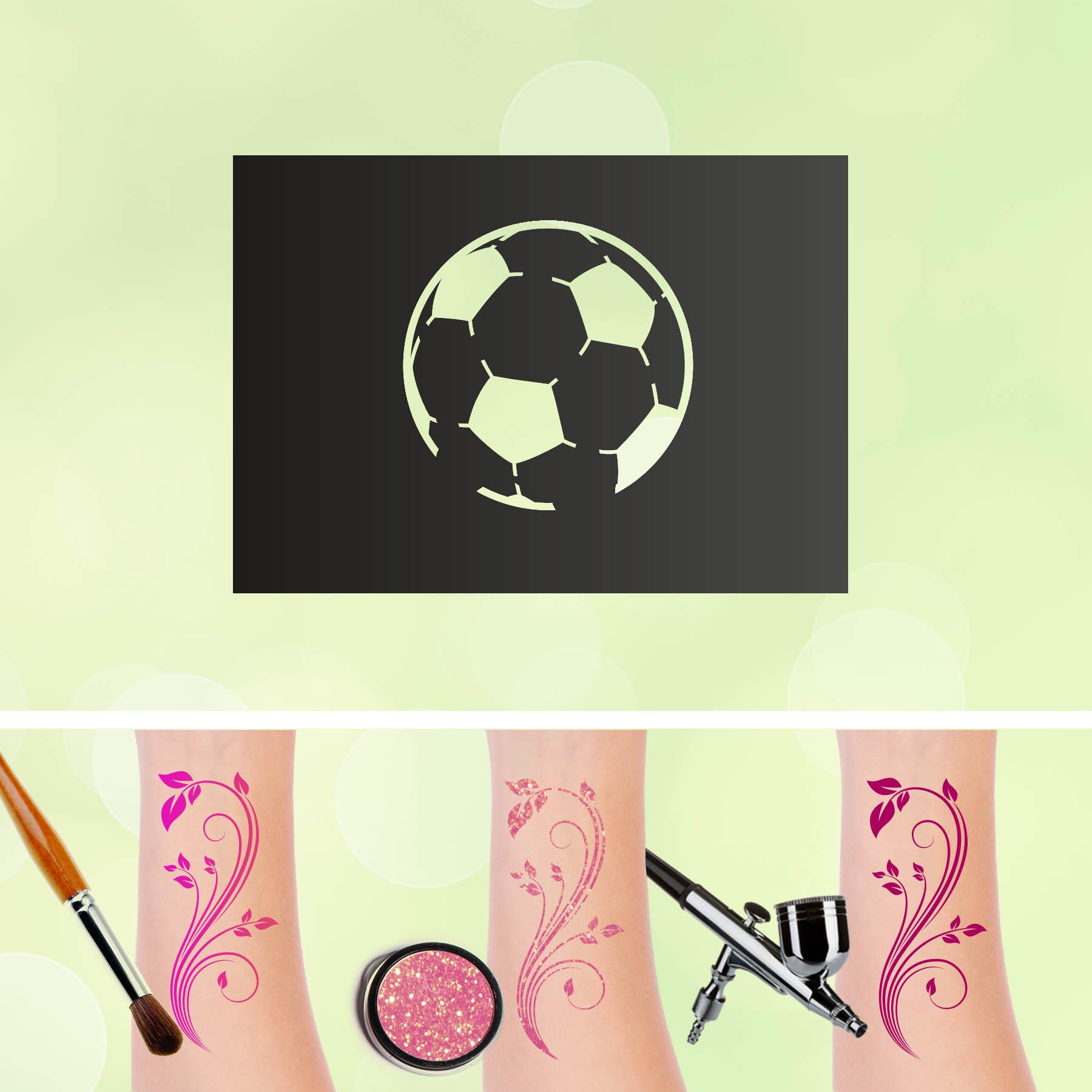 Tattoo Schablonen Fußball Selbstklebend Kinderschminken Airbrush