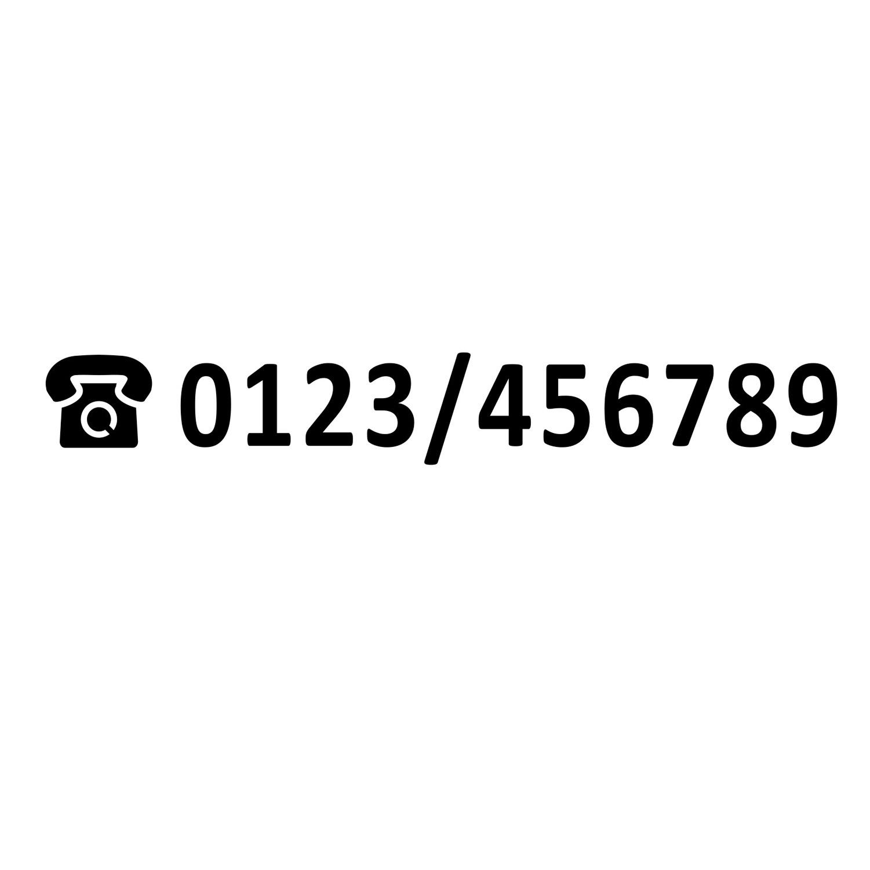 Aufkleber Telefonnummer Schwarz verschiedene Größen Haus Makler Schaufenster Wohnung Schild