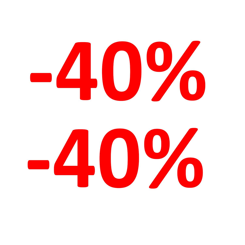 Aufkleber Einzelhandel - 40 %
