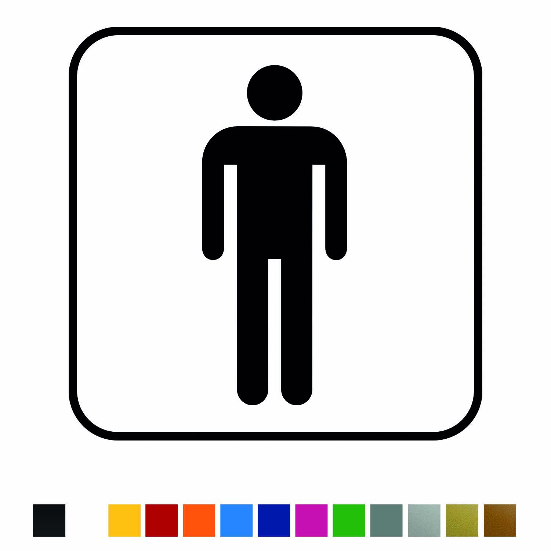 Aufkleber Türaufkleber WC Bad - Men Classic Mann Männer Toilettentür Fun Sticker Wunschfarbe