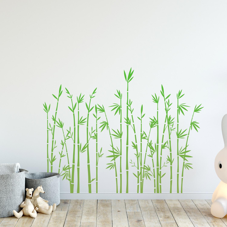 Wandtattoo BAMBUS selbstklebend in Limonengrün in 3 Größen Wandsticker Aufkleber