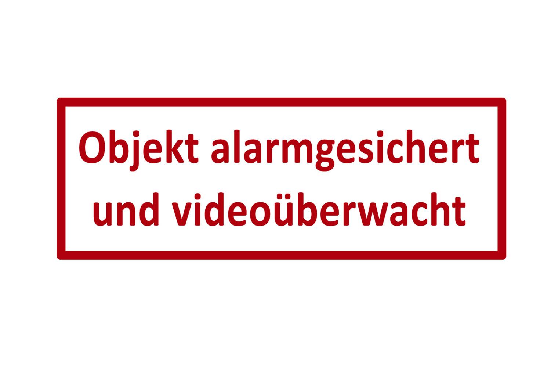 Türaufkleber / Fensteraufkleber - OBJEKT ALARMGESICHERT UND VIDEOÜBERWACHT
