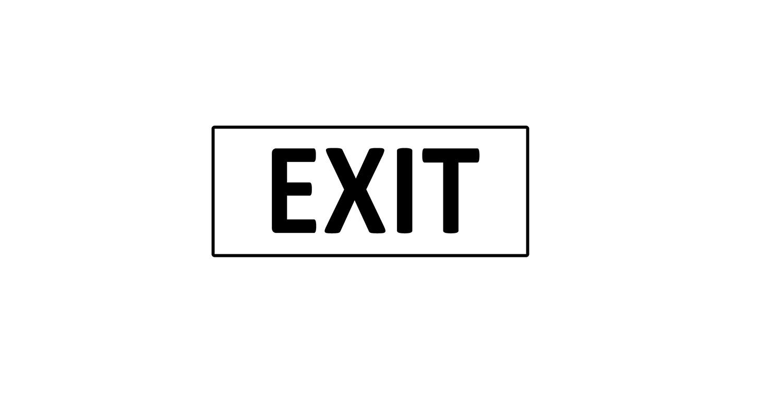 Türaufkleber Büro - EXIT V2.