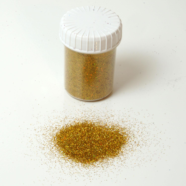 Glitzerpulver 25g Dose Farbe Gold Glitzer-Staub Glitter für Glitzer Tattoos