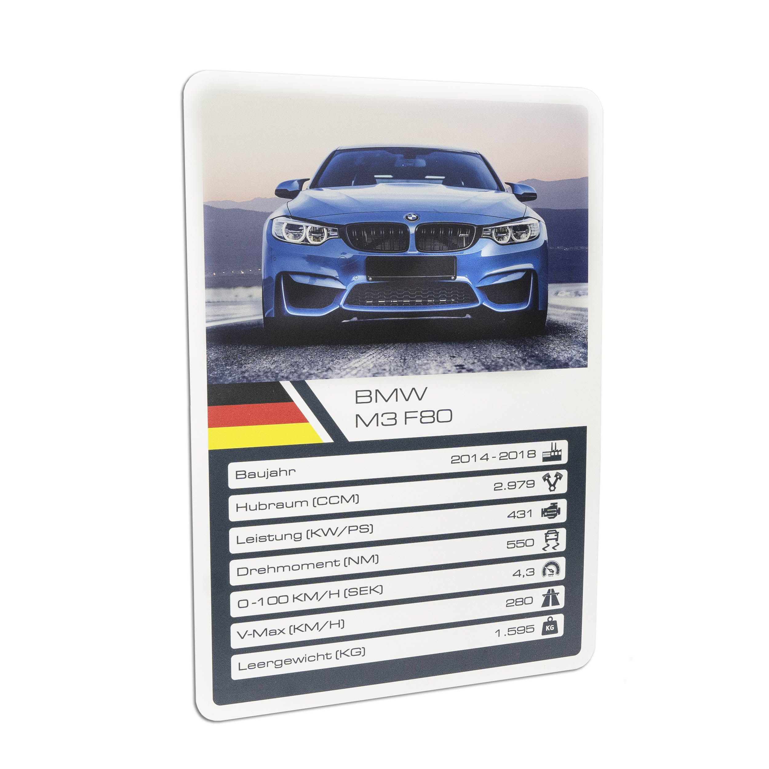 Autokarte Quartettkarte Car card für AUTOLIEBHABER Oldtimer Rennauto Porsche BMW VW etc.