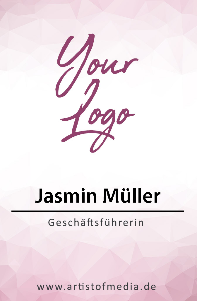 Visitenkarten individuell Fertiges Design Pink + Ihr Inhalt Fertig Business Karten 350g/qm 85 x 55mm
