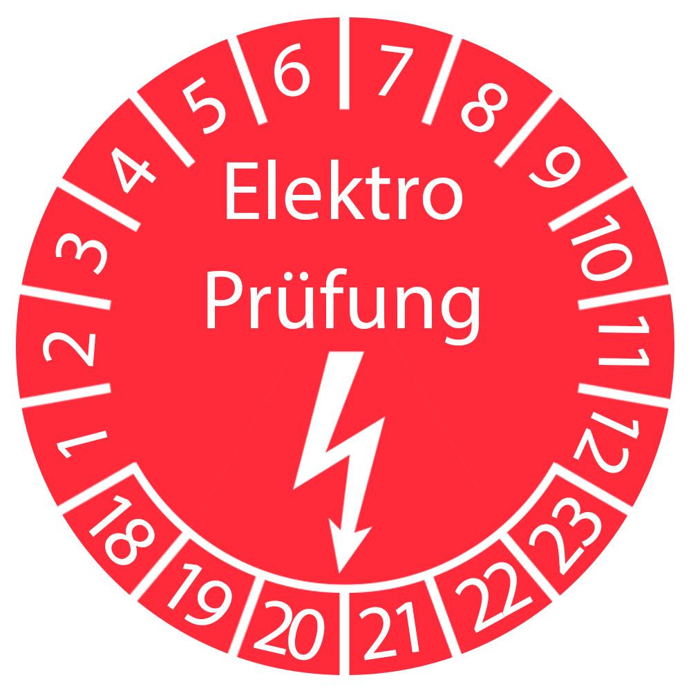 Prüfplakette - Elektro Prüfung 2018-2023
