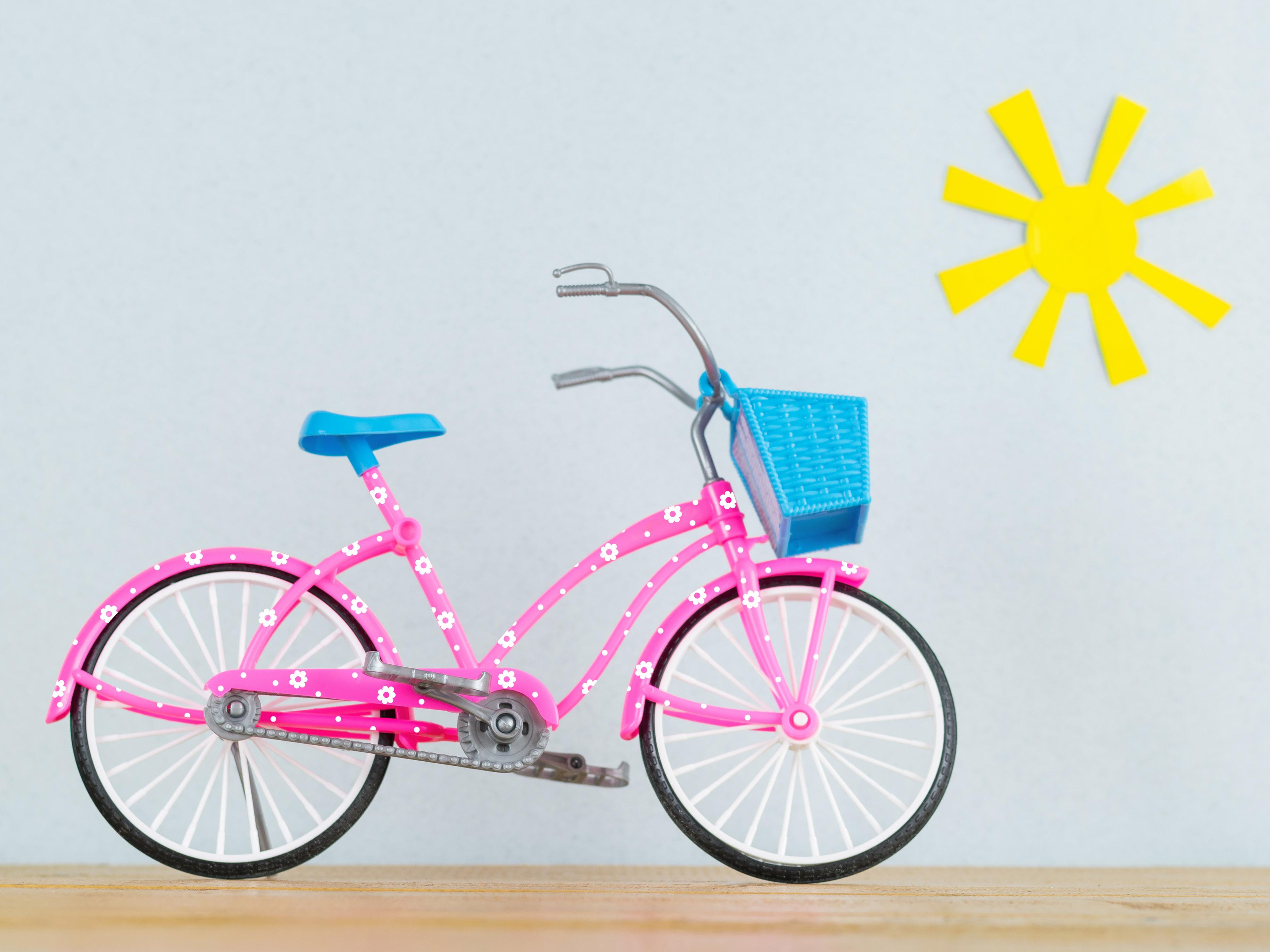 Fahrradaufkleber ❀ Set Blumen 4cm und Punkte 1cm 84 Stück zum selberkleben wetterfest Fahrradsticker