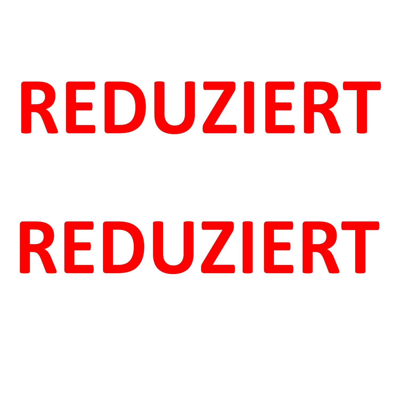 Aufkleber REDUZIERT ROT 2 Stück verschiedene Größen Einzelhandel Schaufenster Ausverkauf Rabatt