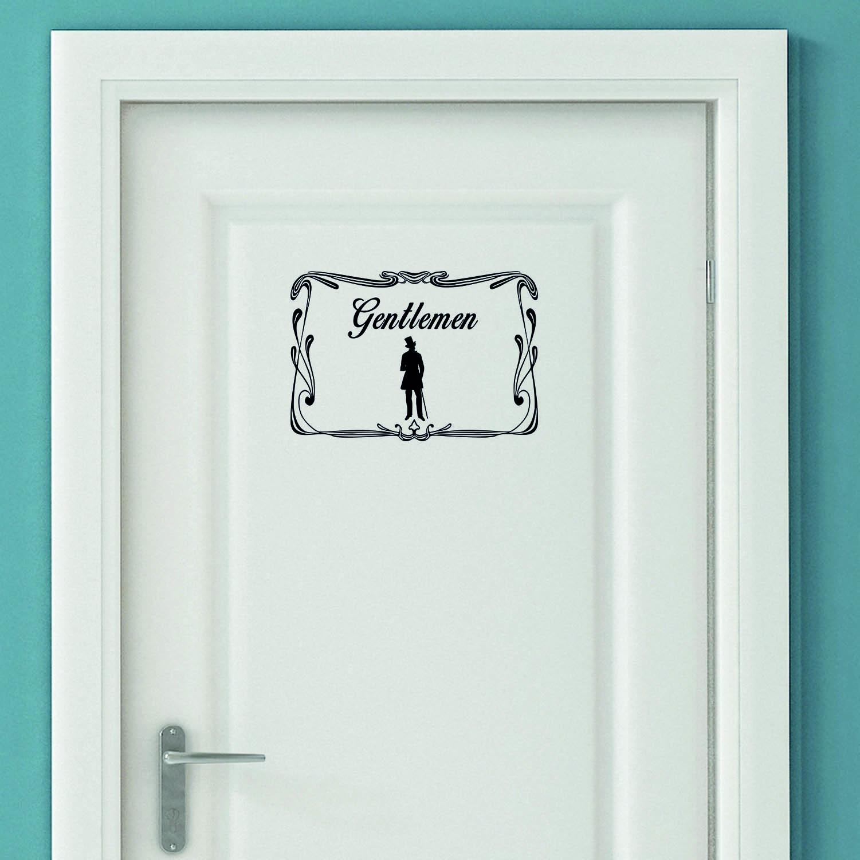 Aufkleber Türaufkleber WC Bad Gentlemen Mann Toilettentür Toilette Fun Sticker Wunschfarbe wählen