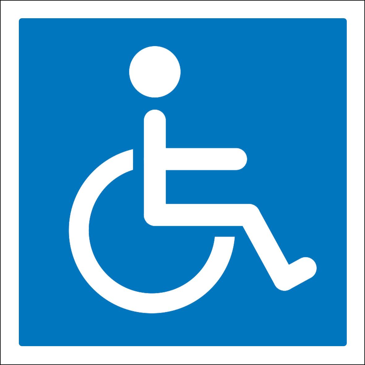 Aufkleber Hinweis - Rollstuhlfahrer Rollstuhl 10cm