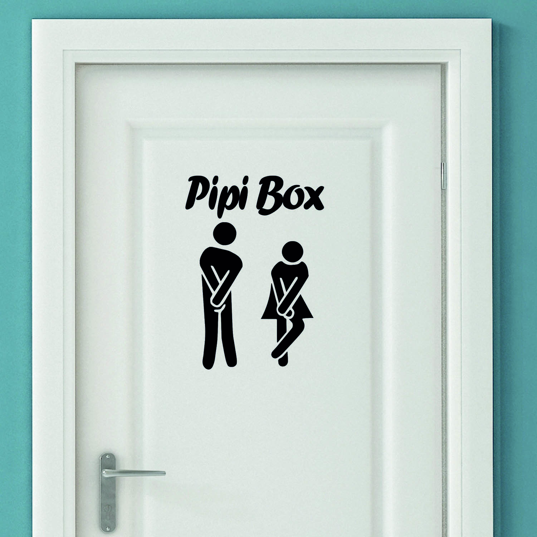Aufkleber Türaufkleber Bad WC Pipibox Dringend Mann Frau Toilette Sticker