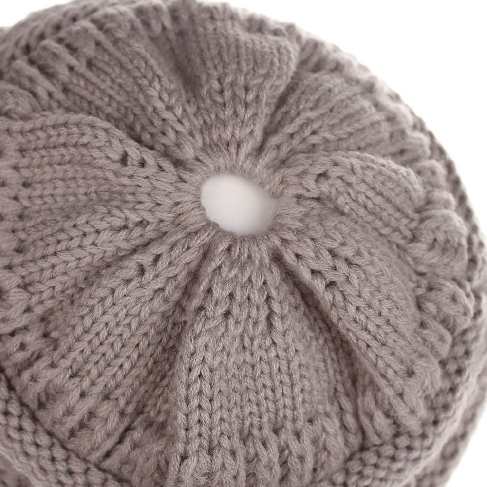 Beanie Mütze mit Loch Damen modische warme weiche dehnbare Strick Wintermütze Unisex