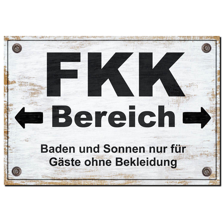 FKK Bereich Schild Alu Verbund Strand Türschild Straßenschild Scherzartikel Geschenkidee