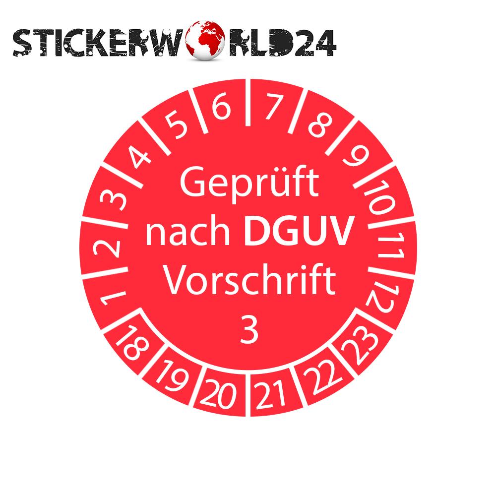 Prüfplakette - geprüft nach DGUV Vorschrift 3 2018-2023