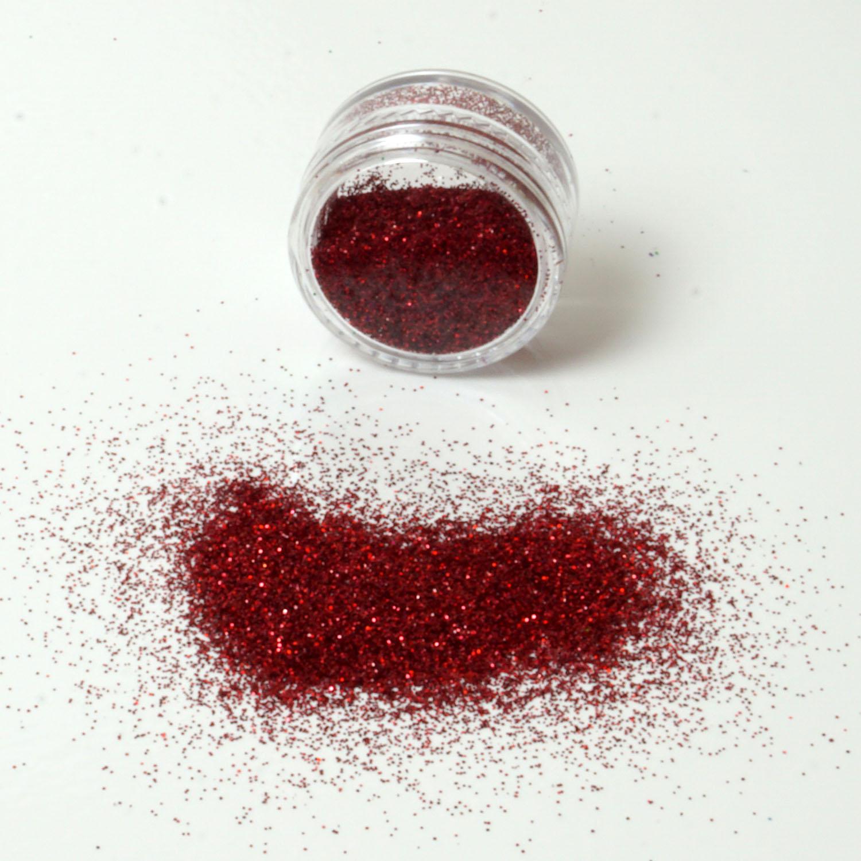 Glitzerpulver 6g Dose Farbe Rot Glitzer-Staub Glitter für Glitzer Tattoos