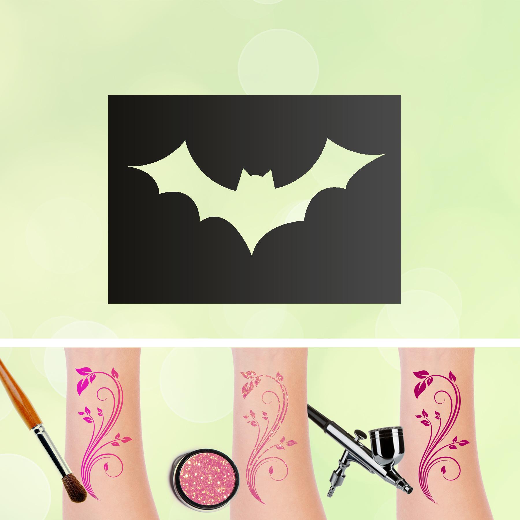 Tattoo Schablonen Fledermaus Selbstklebend Kinderschminken Airbrush
