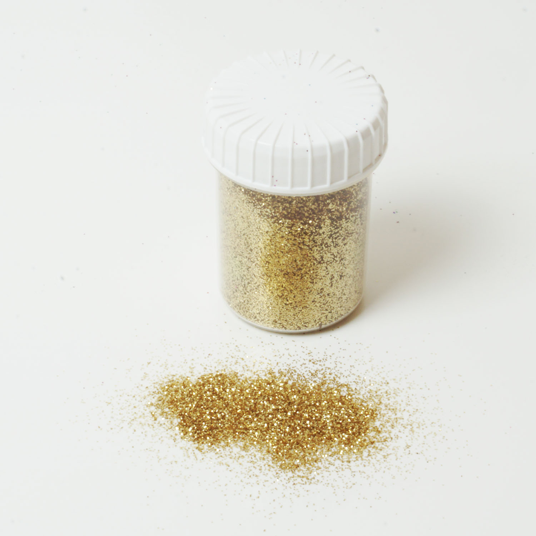 Glitzerpulver 25g Dose Farbe Light Gold Glitzer-Staub Glitter für Glitzer Tattoos