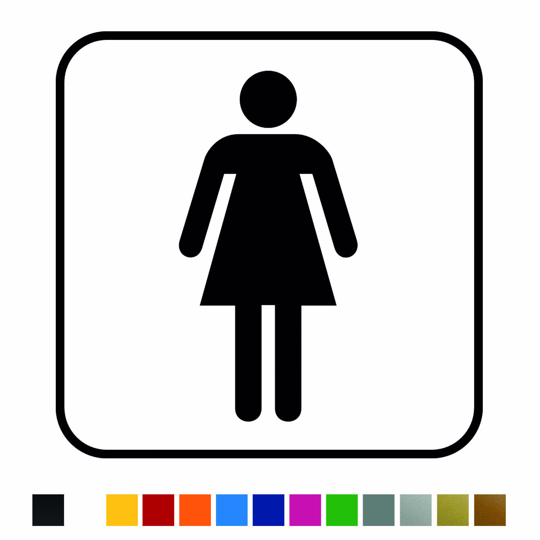 Aufkleber Türaufkleber WC Bad - Woman Classic Ladies Damen Frau Toilettentür Fun Sticker Wunschfarbe