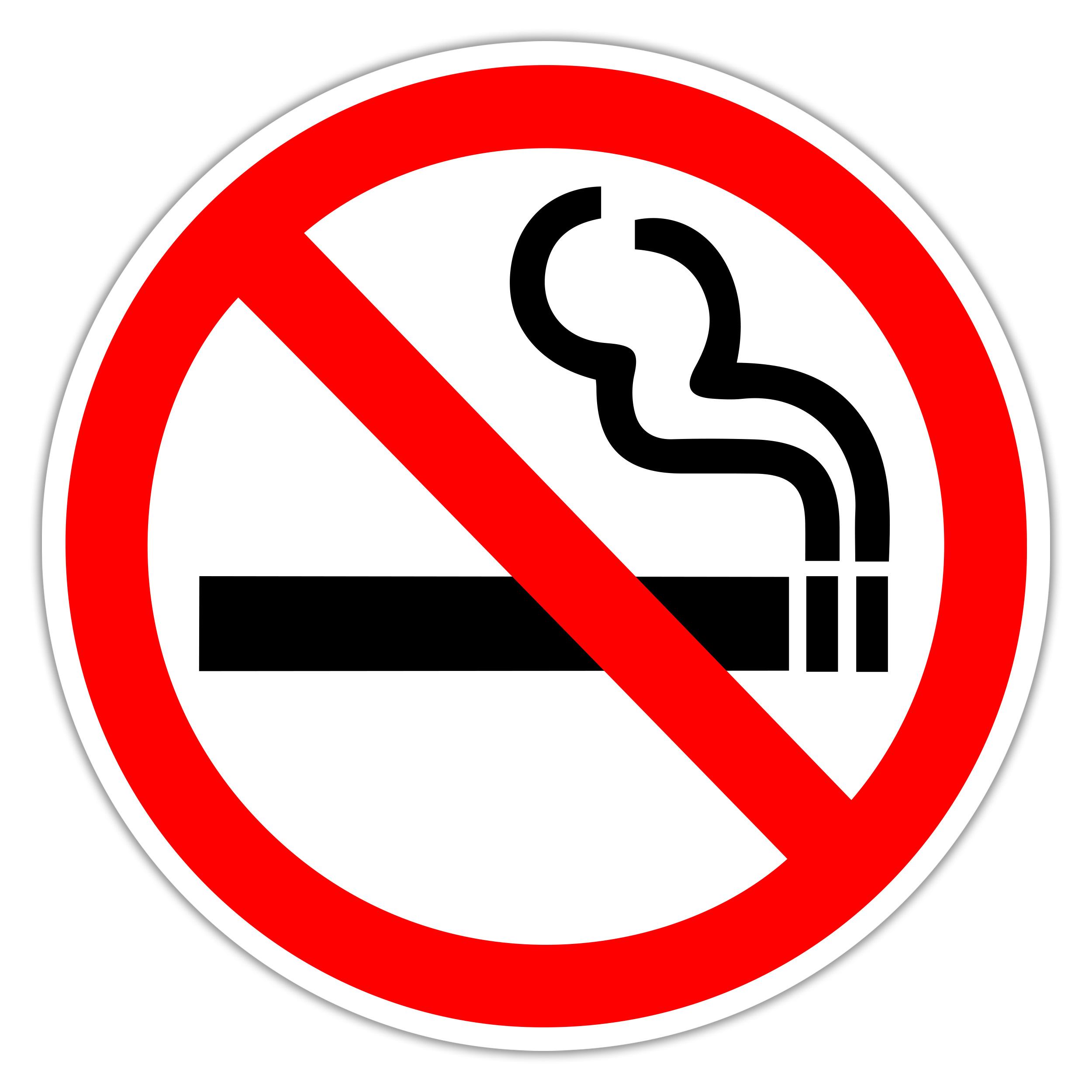 Aufkleber Rauchen verboten Sticker No Smoking Schild Rauchverbot Hinweisschild Selbstklebend