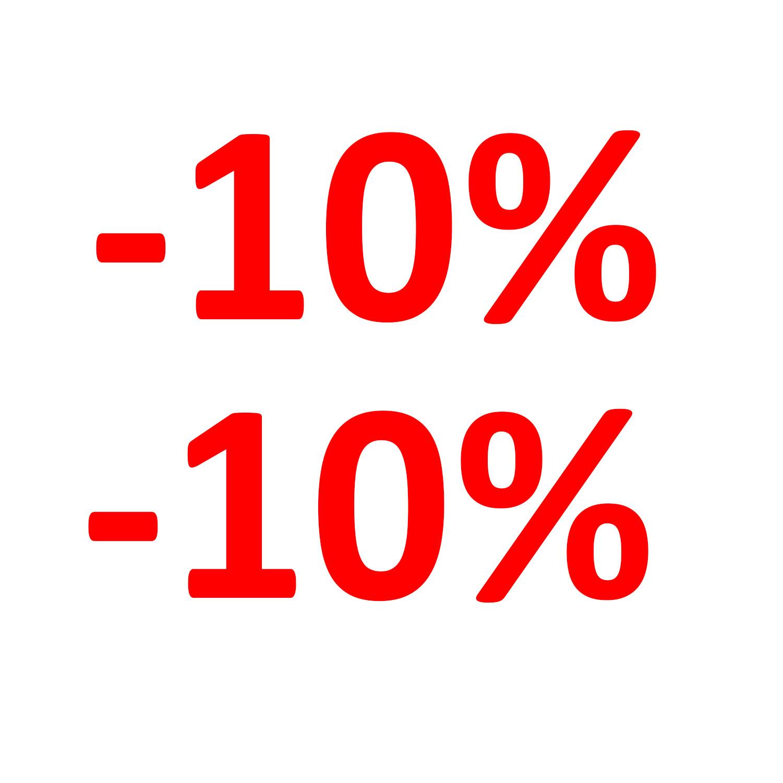 Aufkleber Einzelhandel - 10 %