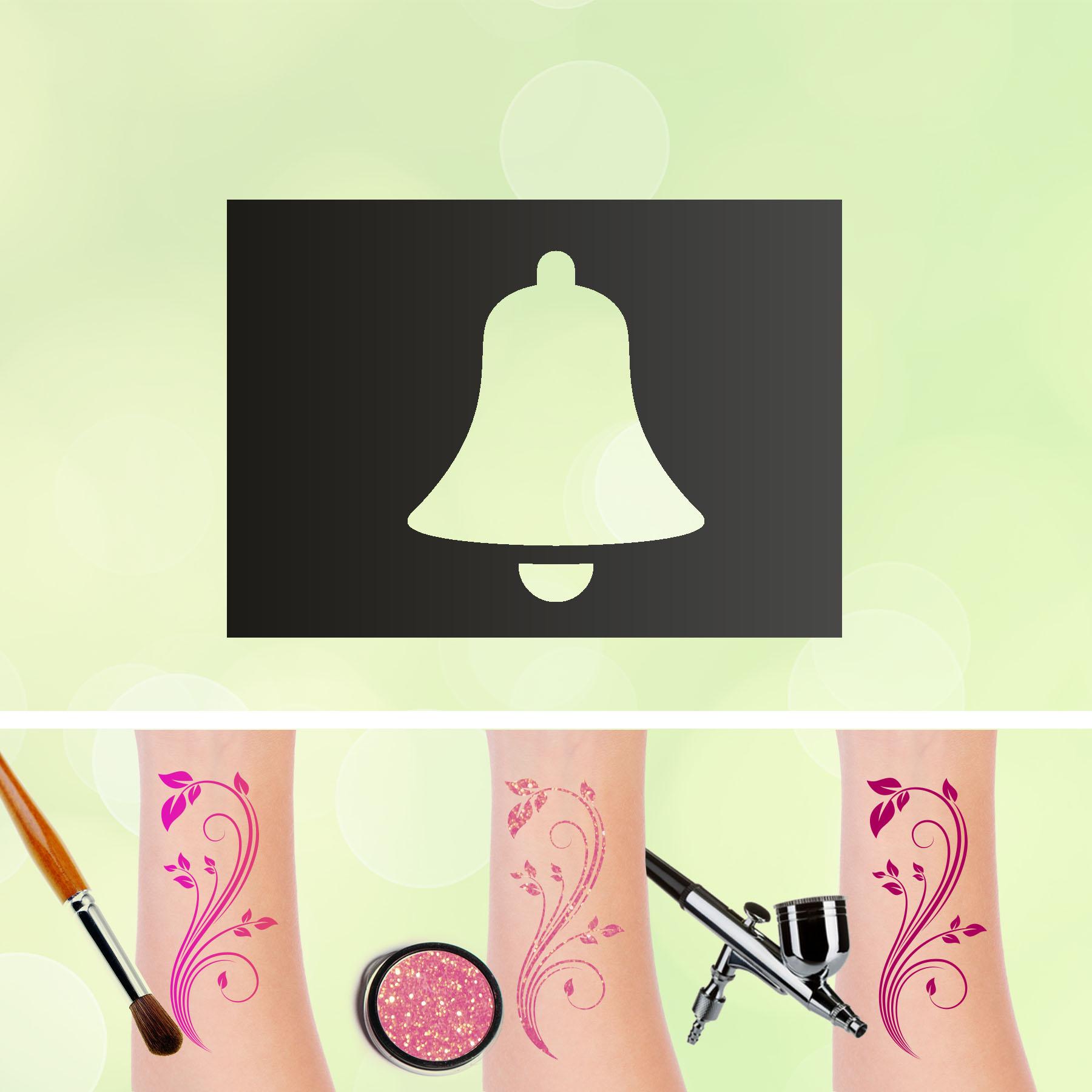 Tattoo Schablonen Glocke Selbstklebend Kinder Schminken Airbrush
