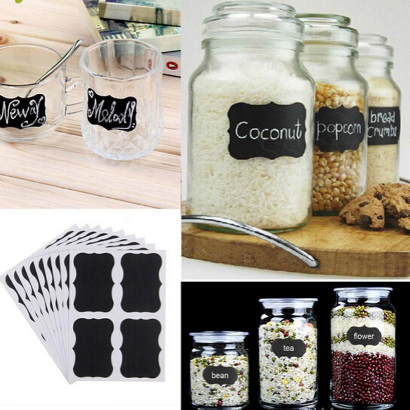 Tafel Aufkleber Etiketten Sticker für Dosen, Flaschen, Marmelade, Gewürzglas zum beschriften, Küche