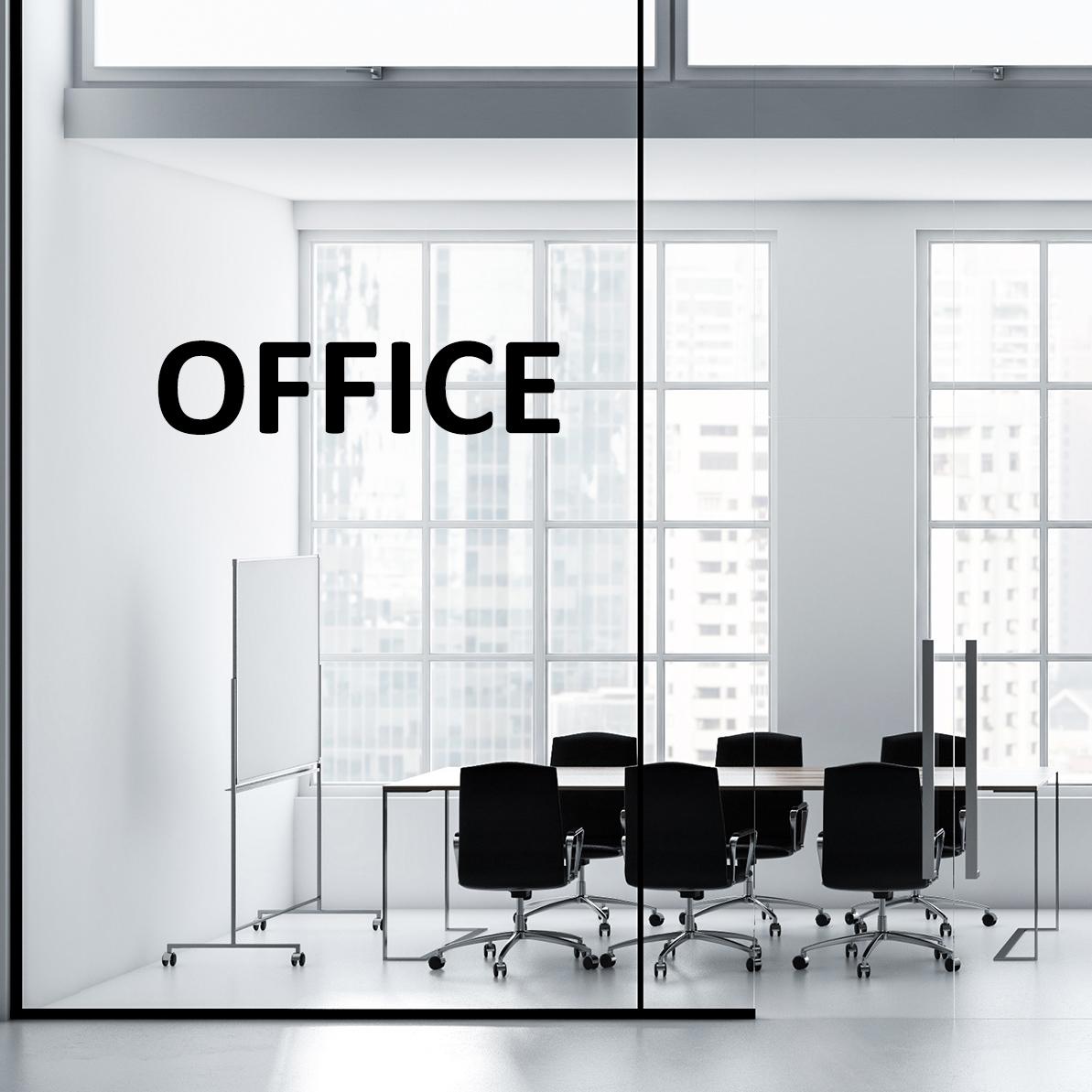 Aufkleber OFFICE Türaufkleber Hinweisschild Sticker