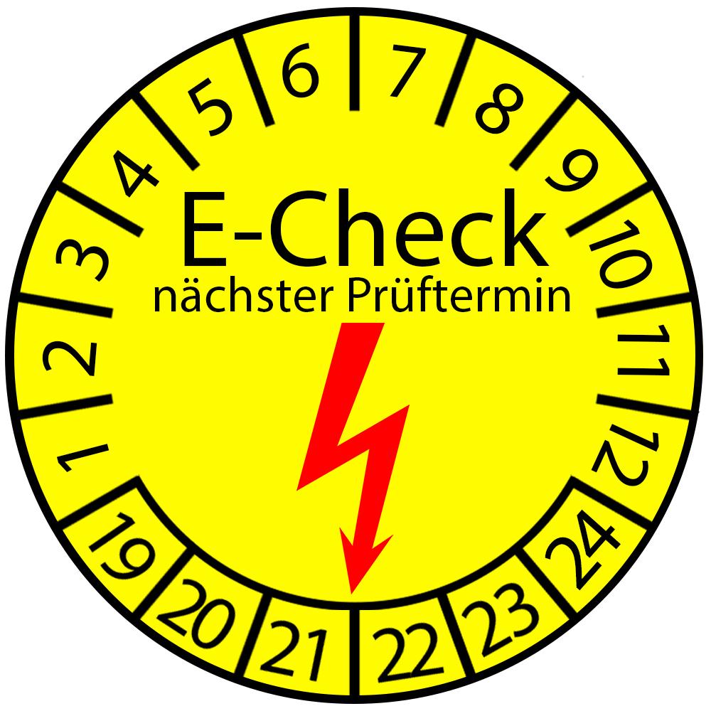Prüfplakette 3 cm - E-Check nächster Prüftermin 2019-2024