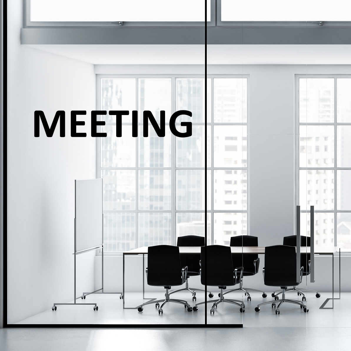 Aufkleber - MEETING Türaufkleber Hinweisschild Sticker