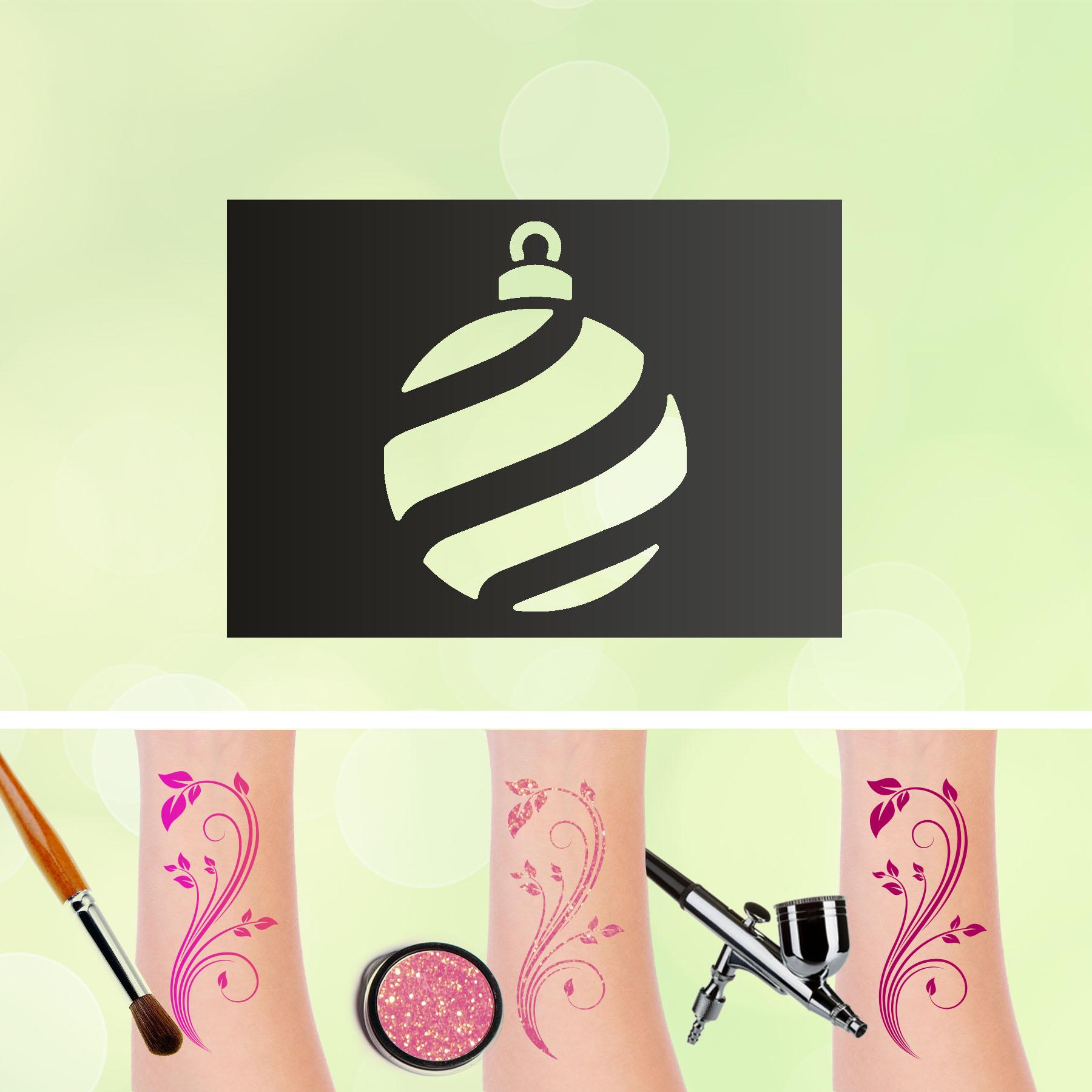 Tattoo Schablone Weihnachtskugel Selbstklebend Kinder Schminken Airbrush